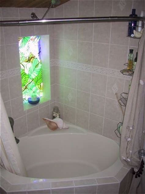 corner bath and shower corner tub shower curtain rod click on picture to enlarge small bathroom