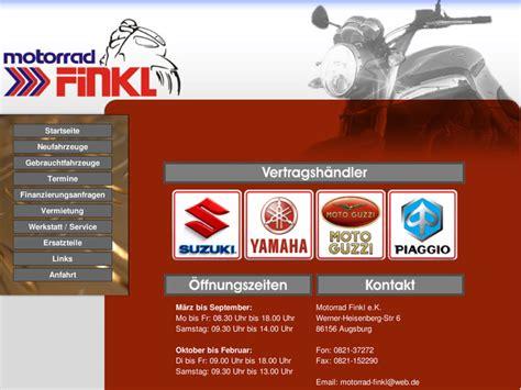 Suzuki Motorrad Händler Berlin by Motorrad Finkl E K In Augsburg Motorradh 228 Ndler