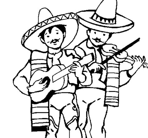 mariachi guitar coloring page mariachi musicians coloring page