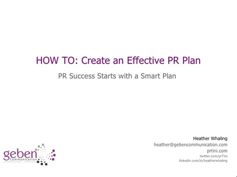 relations plan template free how to start creating a pr plan