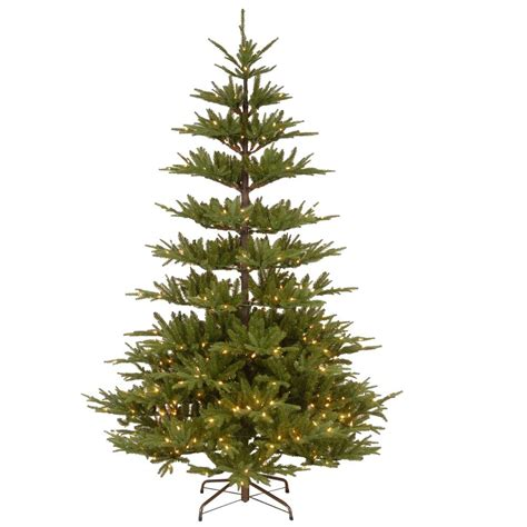 artificial christmas tree 5 7 5ft tall spruce metal stand national tree company 7 5 ft powerconnect glenwood fir