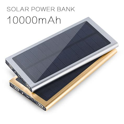 Power Bank Solar 60000mah solar power bank 10000mah portable external backup battery charger solar powerbank 10000mah for