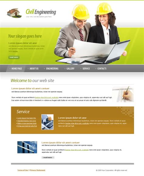 free templates for engineering website planning web template 5999 construction engineering