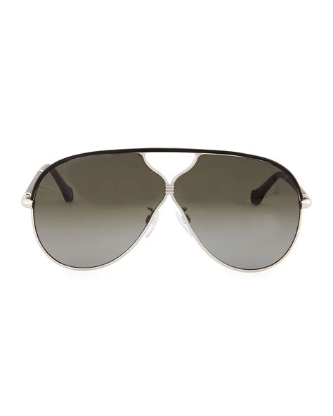 balenciaga aviator sunglasses in gray lyst