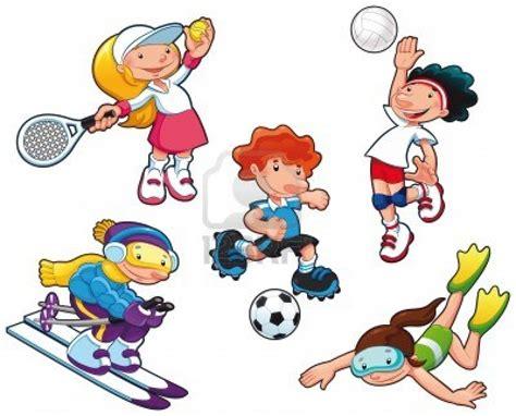 imagenes niños haciendo educacion fisica dibujos de ni 241 os haciendo deporte imagui