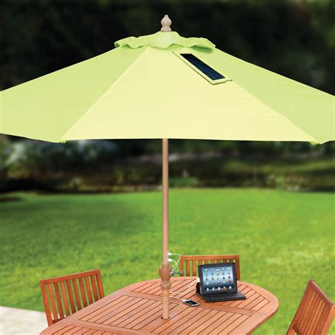 Usb Charging Solar Market Umbrella The Green Head Solar Patio Umbrella