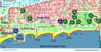 map of hotels in hotels in poble nou barcelona tourist guide