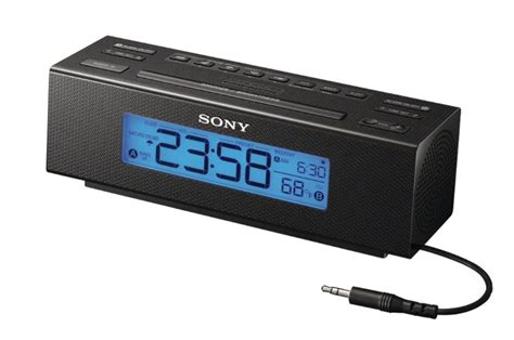 free 1 sony icf c707 clock radio with am fm dual alarm and large easy to read backlit lcd