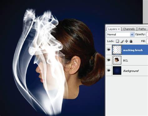 tutorial adobe photoshop adalah diberkati untuk memberkati manipulasi foto efek asap