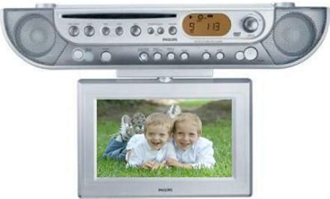 philips ajl700 cabinet kitchen dvd clock radio with
