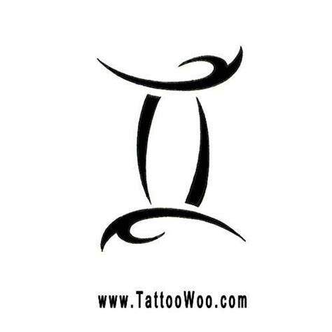 star sign tattoo designs gemini symbol design tribal zodiac sign