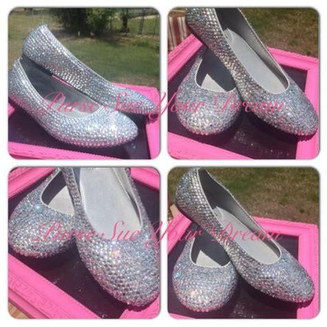 flat bridal shoes with bling custom rhinestone ballet flat shoes wedding