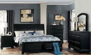 black sleigh bedroom set laurelin black sleigh storage bedroom set from homelegance