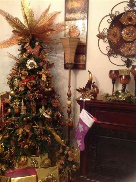 brown and gold christmas pinterest