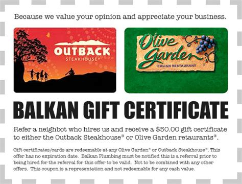 Where Are Olive Garden Gift Cards Redeemable - nyc plumber offers 50 olive garden or outback gift certificates