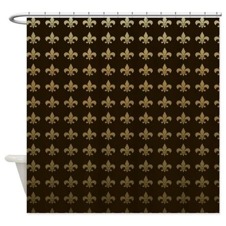 fleur de lis shower curtain chocolate fleur de lis shower curtain by magicgardendesigns