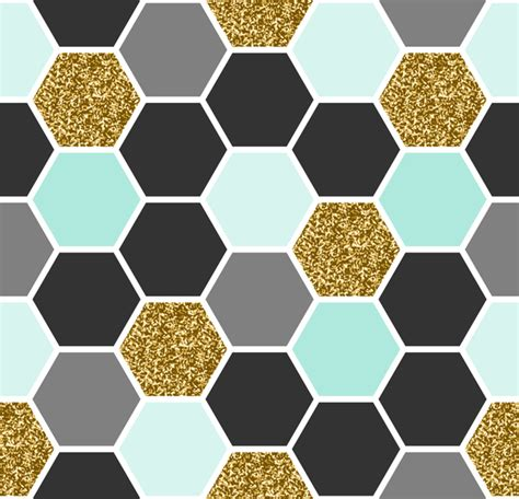 hexagon pattern name hexagon pattern seamless vector set 03 vector pattern