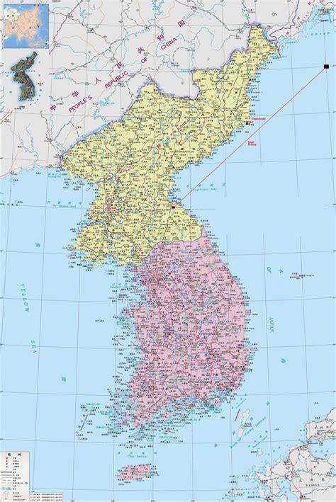 korean map maps of korea dprk detailed map of korea