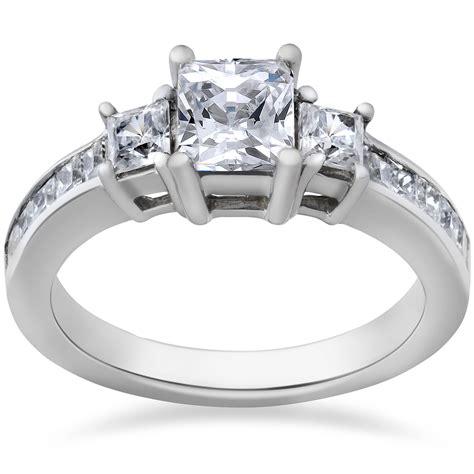 princess cut engagement ring 3 1 1 2ct 14k