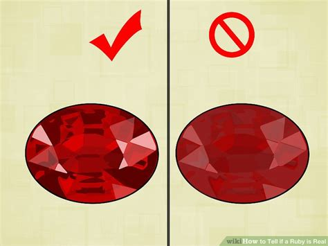 how to tell if is in 3 ways to tell if a ruby is real wikihow
