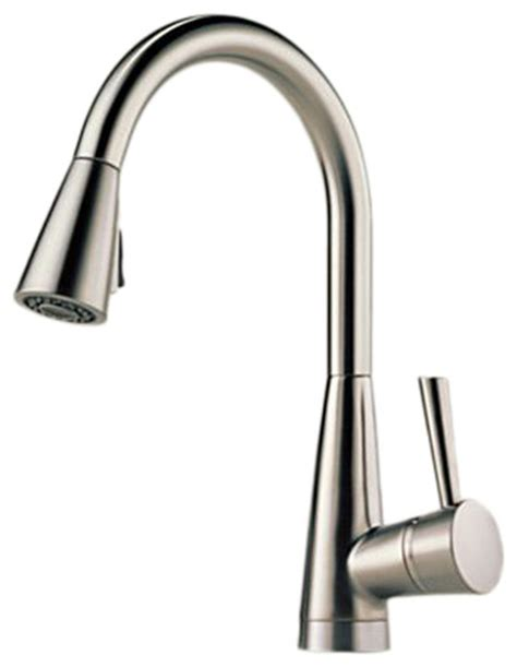 modern kitchen faucets stainless steel brizo 63070lf ss venuto stainless steel kitchen pull