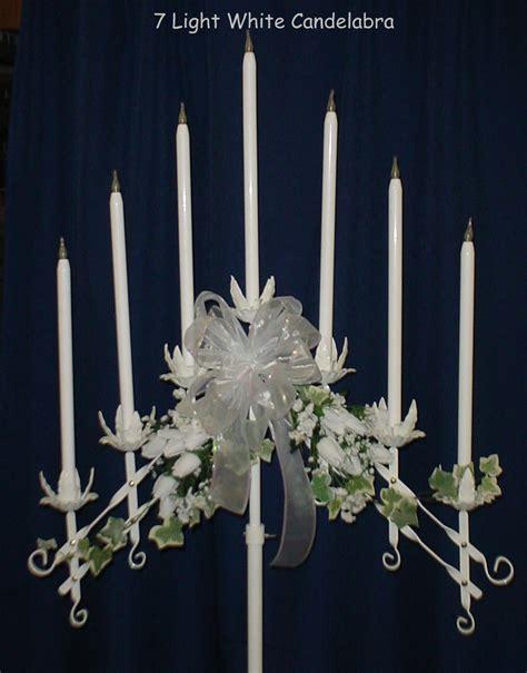 rental nashuawhite candelabra decorated 7 candle