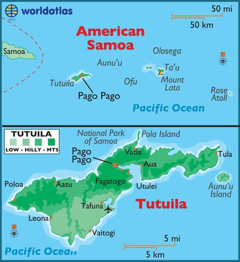 map of american samoa american samoa large color map