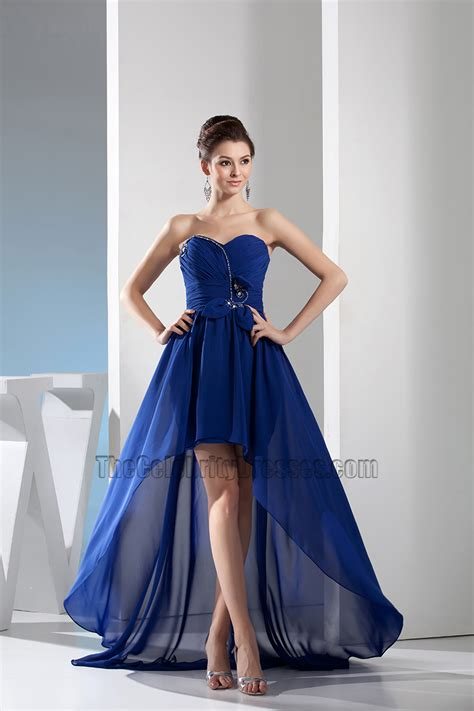 royal blue badezimmerzubehör royal blue sweetheart high low prom gown evening dress