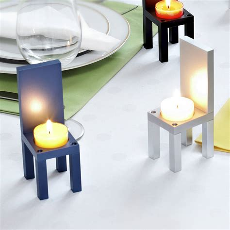 light holder aluminium chair tea light holder by designk