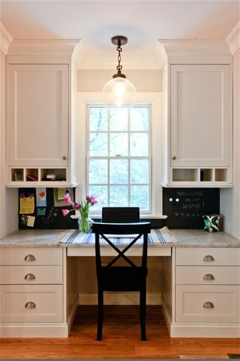Kitchen Office Desk Classic Coastal Colonial Renovation The Kitchen Desk Traditional Home Office Newark By
