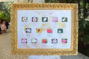 tableau con fiori tableau tavoli con 14 nomi di fiori tableau tavoli