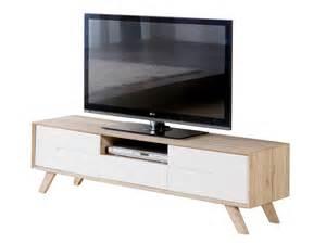 meuble tv bois d 233 cor san remo avec tiroir 2 portes pieds