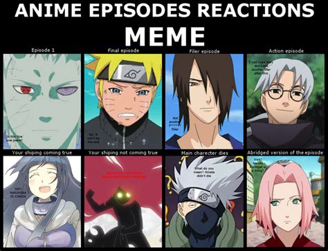 Meme Comic Anime - anime episodes reaction meme naruto by ladysolonna on