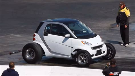 V8 Smart Car by Smart Fortwo Converted Into Big Block Powered Drag Racer