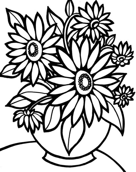 Flowers Coloring Pages Print by Flower Coloring Pages For To Print Agouraalumni