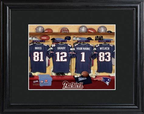 Nfl Locker Rooms by Personalized Nfl Locker Room Print