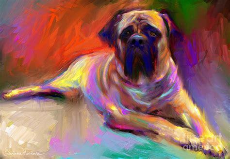 dogs painting bullmastiff painting by svetlana novikova