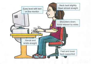 how to sit correctly in front of a computer tips