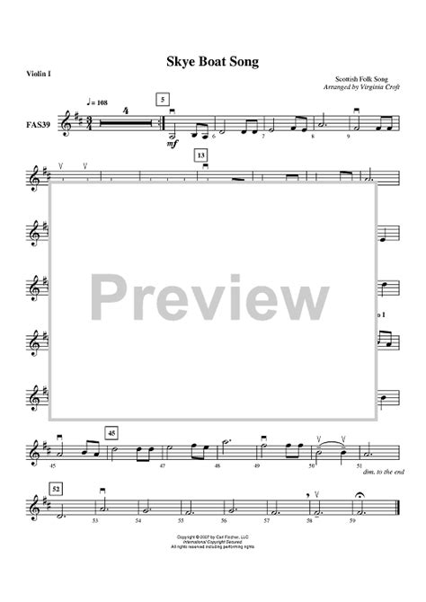 skye boat song vocal sheet music skye boat song violin 1 sheet music for piano and more