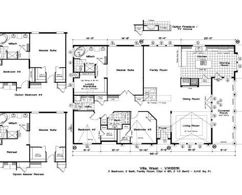 golden west manufactured homes floor plans golden west villa west floor plans 5starhomes