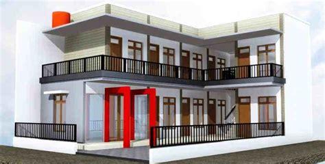 desain rumah kost bertingkat sederhana delapan rumah