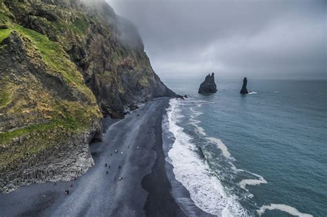 black sand game black sand beach the south coast of iceland