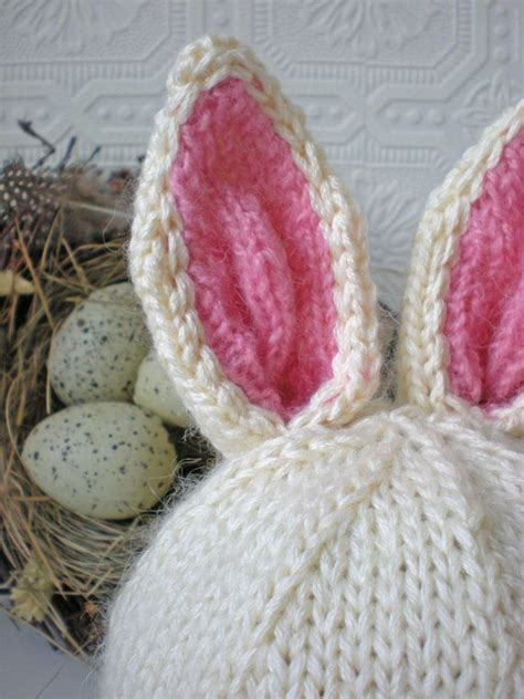 knitted bunny ears baby bunny hat knit with bunny ears and honey bunny