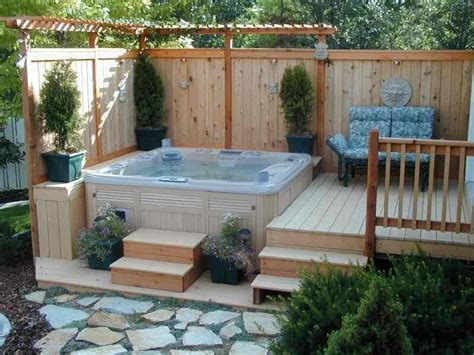 Backyard Hottub by Beautify Your Garden With A Tub Uk Tubs