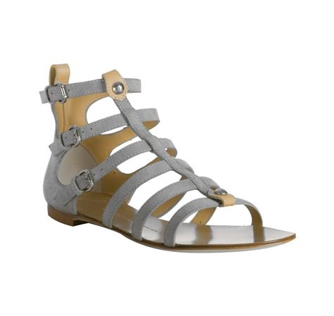 grey gladiator sandals giuseppe zanotti grey suede open toe gladiator sandals in