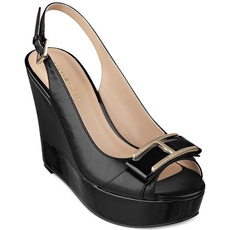 Hilfiger Wedges by Hilfiger Kameron Platform Wedges In Black Lyst