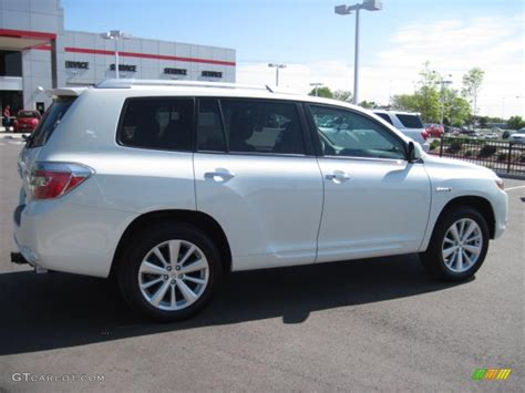 2009 Toyota Highlander Limited 2009 Blizzard White Pearl Toyota Highlander Hybrid Limited