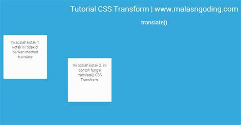 tutorial css font belajar css3 transform translate scale skew rotate matrix