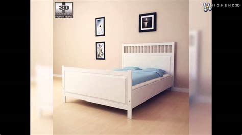 ikea model bedrooms ikea hemnes bed 2 3d model from creativecrash com youtube