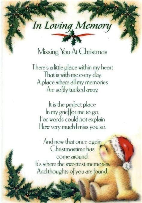 missing   holiday season christmas poems dad poems christmas quotes